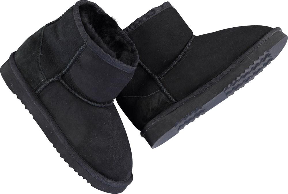 Dry - Black - Bamse babystøvler i sort.