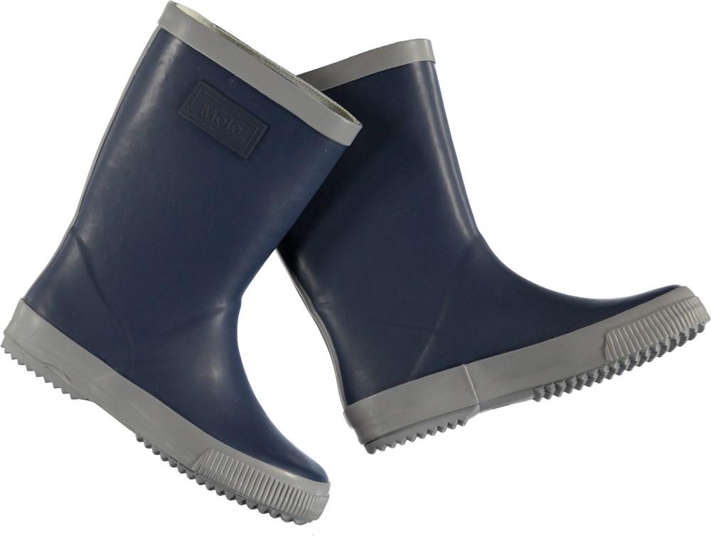 Silos - Infinity - Blå gummistøvler med for.