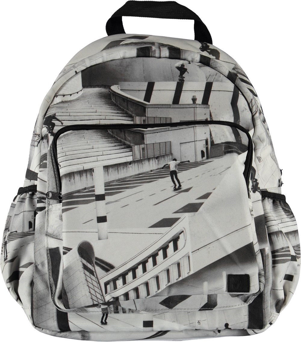 Big backpack - City Skate - Stor rygsæk med skater print.