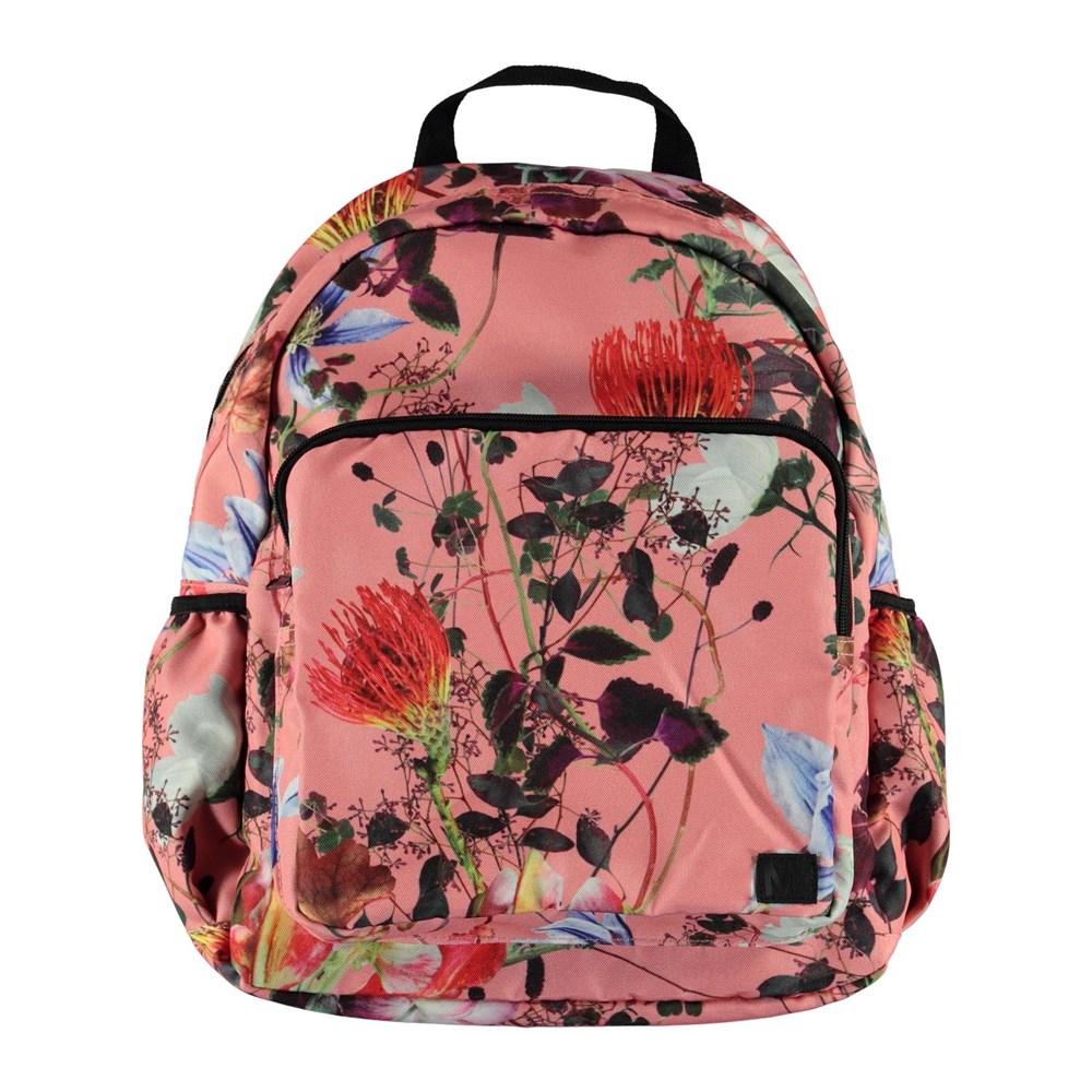 Big backpack - Flowers Of The World - Stor blomstret rygsæk.