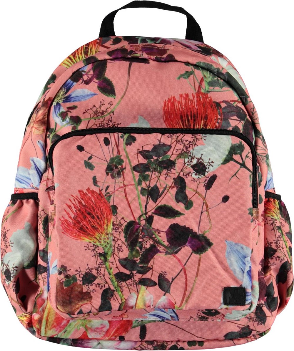 Big backpack - Flowers Of The World - Stor blomstret rygsæk.