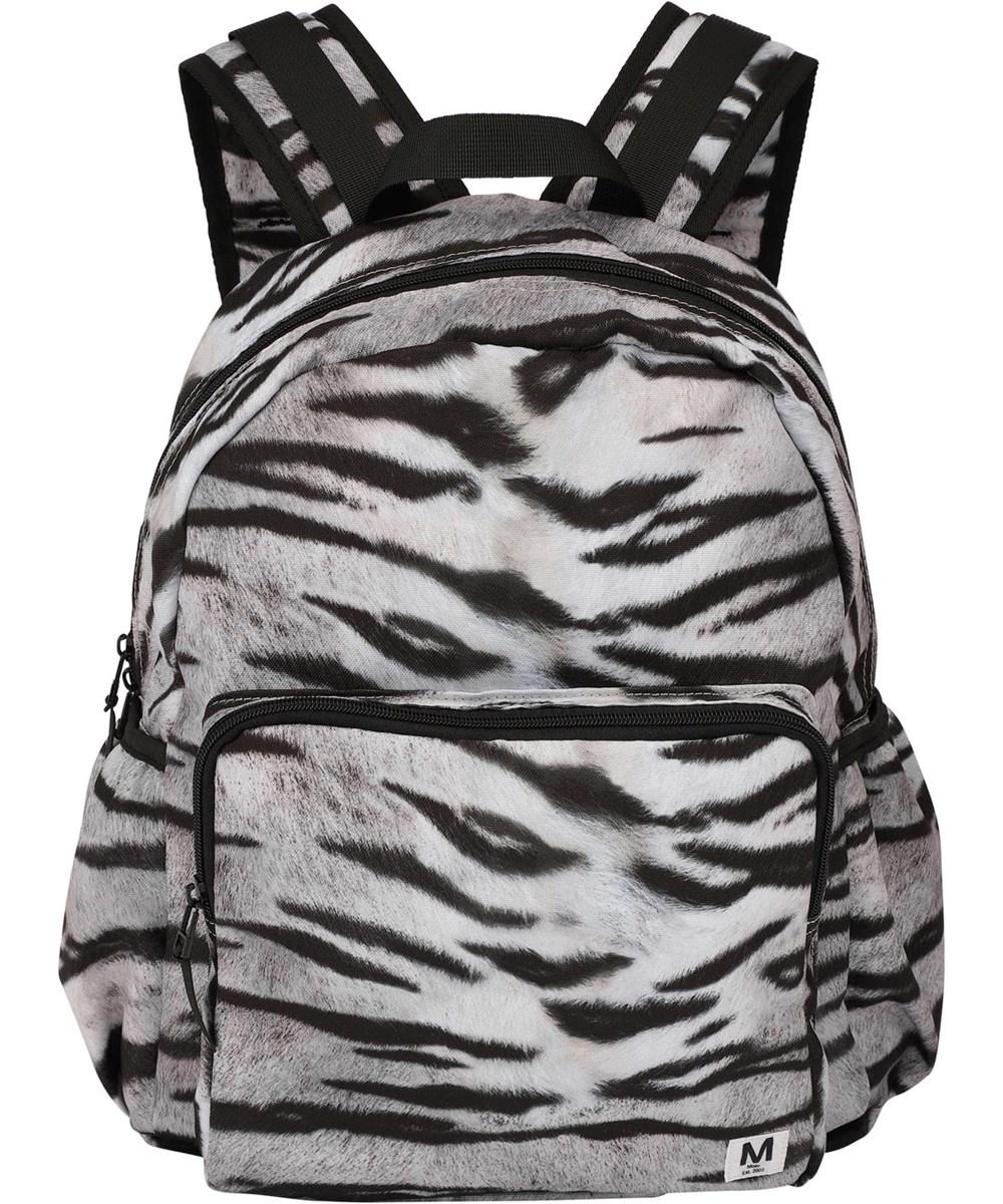 Big backpack - White Tiger - Recycled rygsæk med tiger print