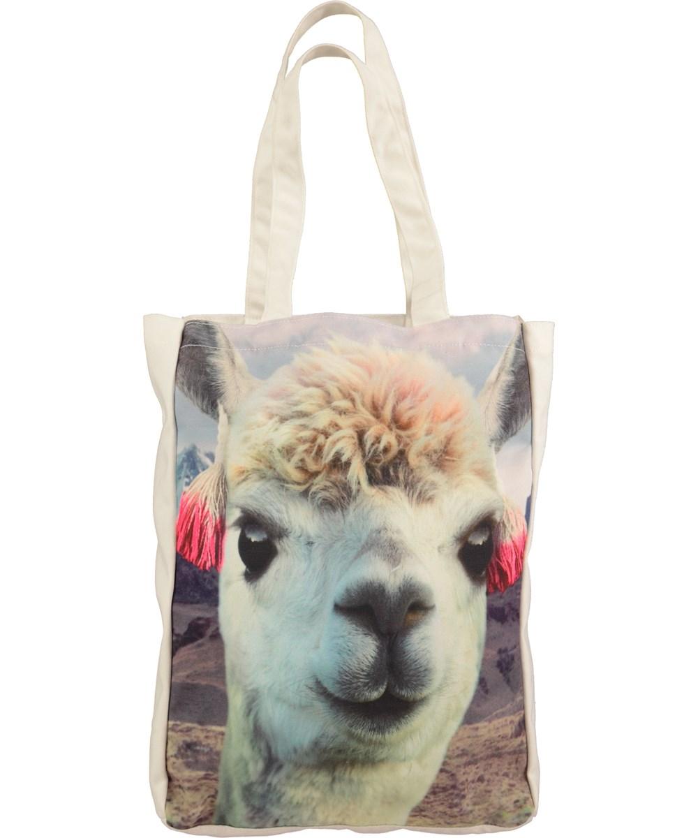Canvas Shopper - Opal Grey - totebag med lama