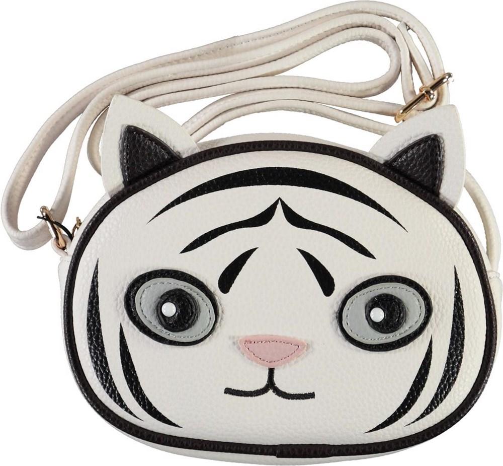 Tiger Bag - White Star - Hvid tiger crossbody taske