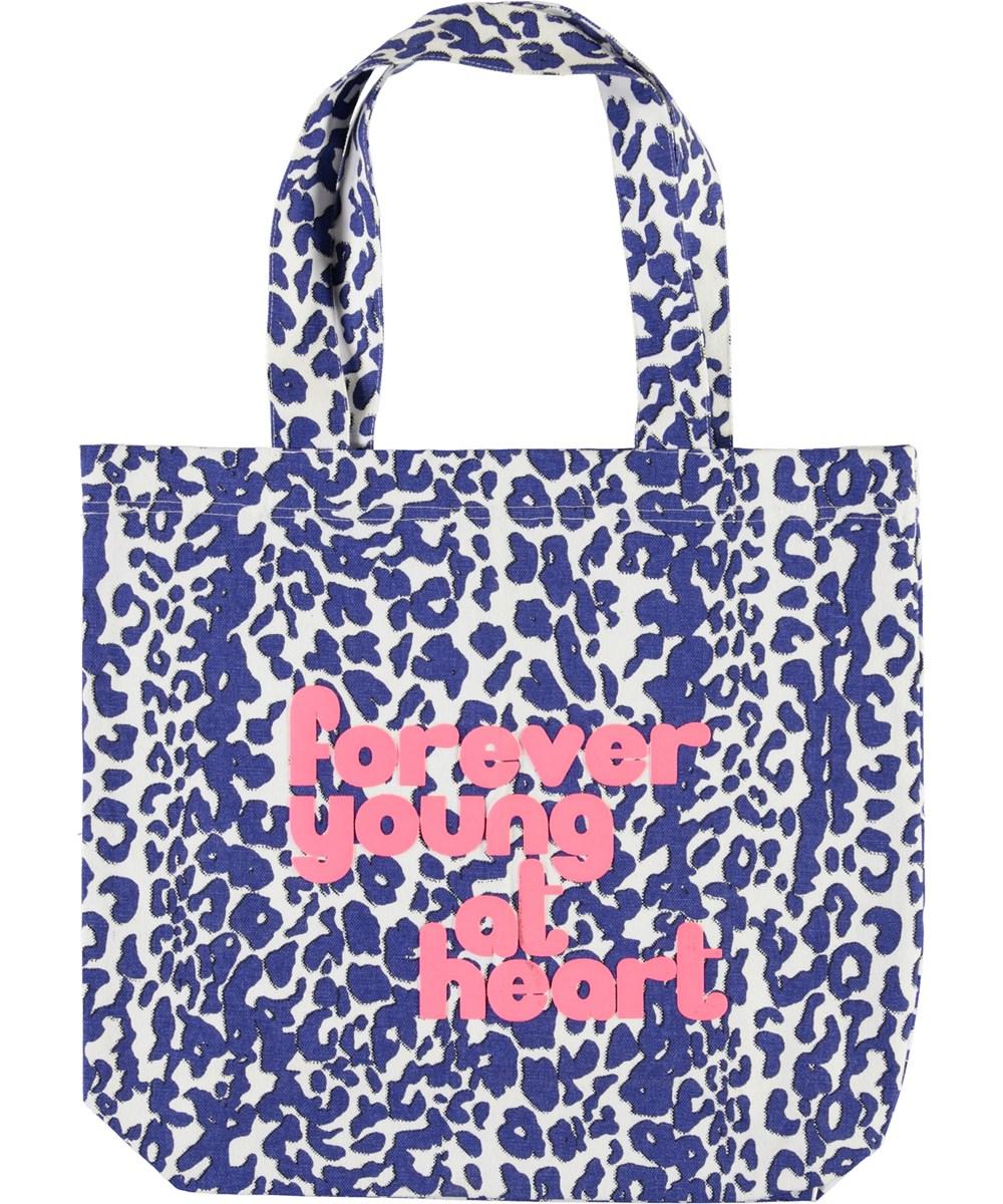 Tote Bag - Blue Leo - Blå leopard totebag