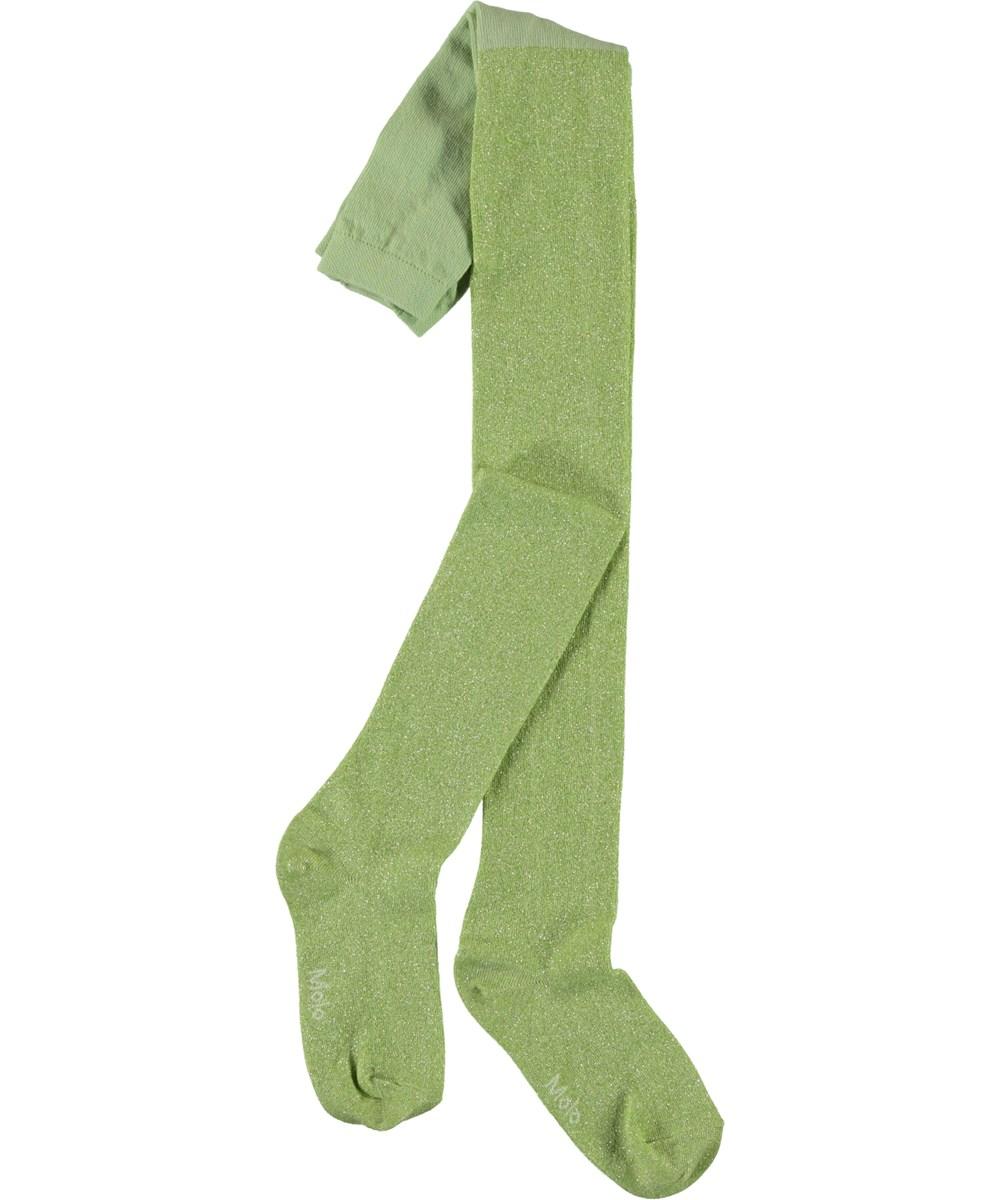 Glitter tights - Apple Sorbet - Green glitter tights