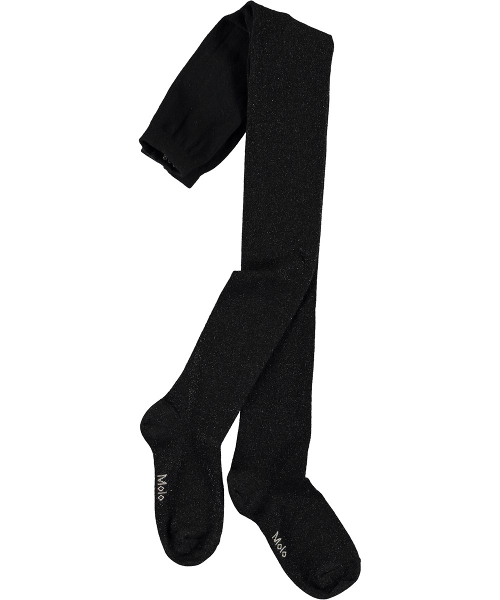 Glitter tights - Black -