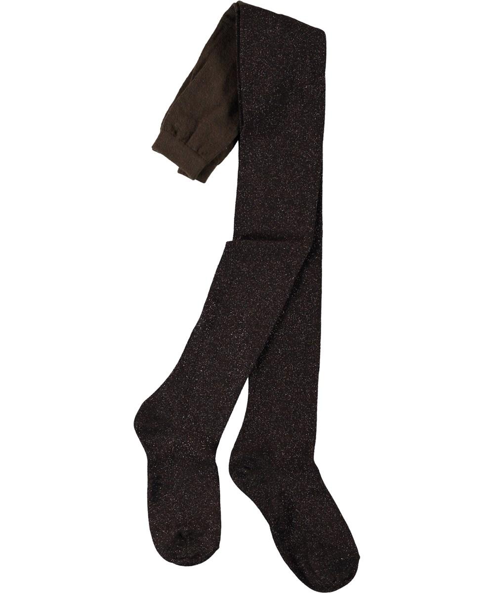 Glitter tights - Chocolate Truffle - Dark brown glitter tights