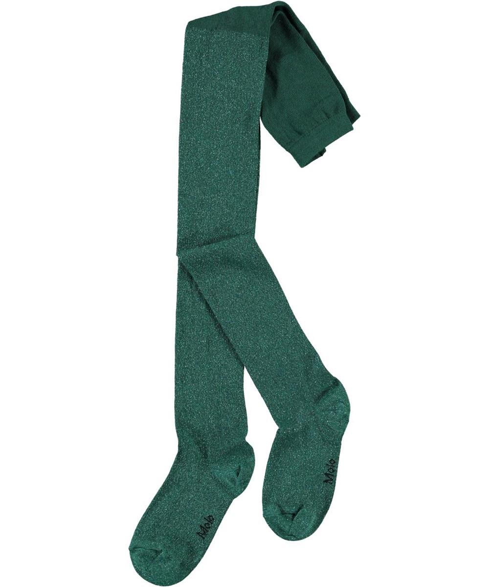 Glitter Tights - Jasper - Green tights with glitter