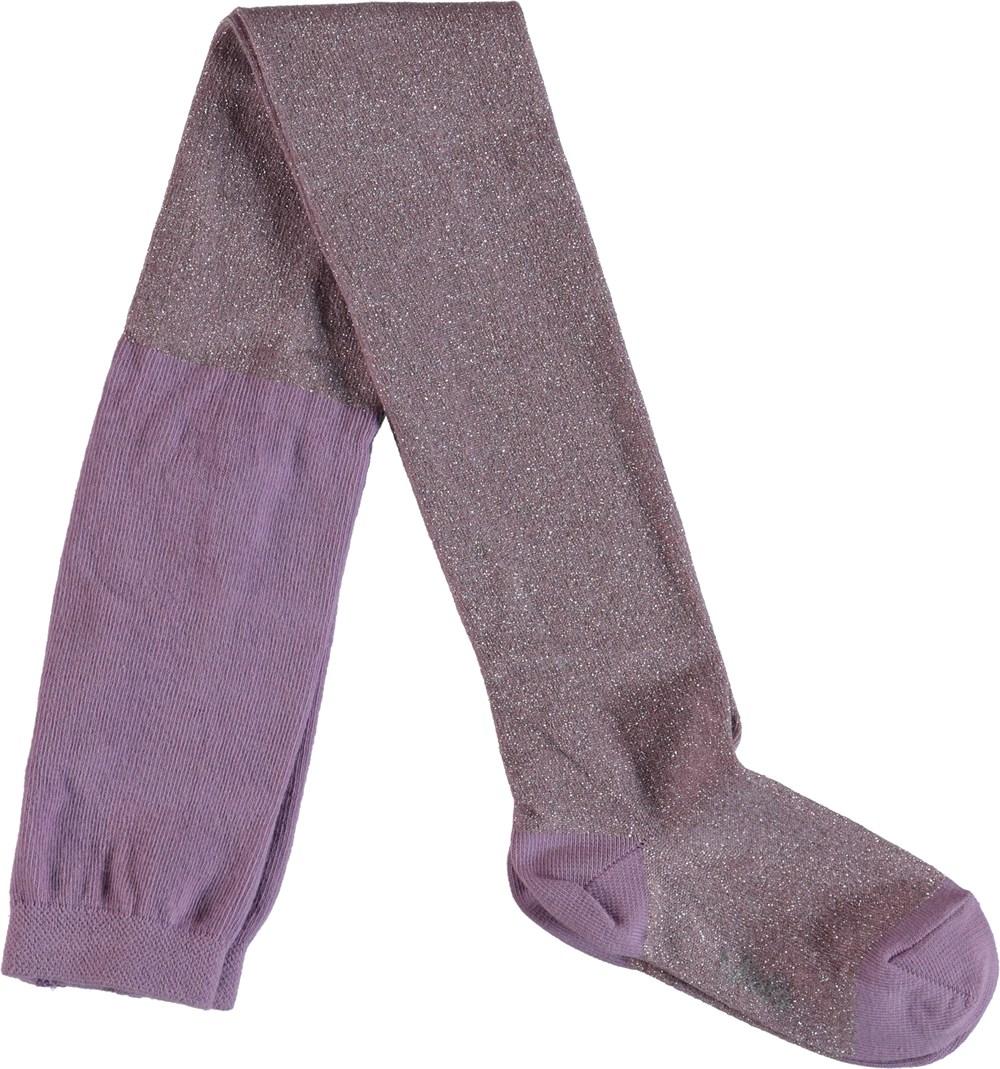Glitter tights - Lavender -