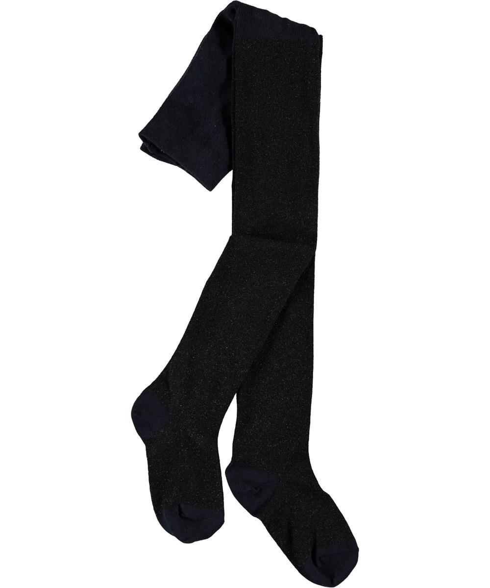 Glitter tights - Sky Captain - Dark blue glitter tights.