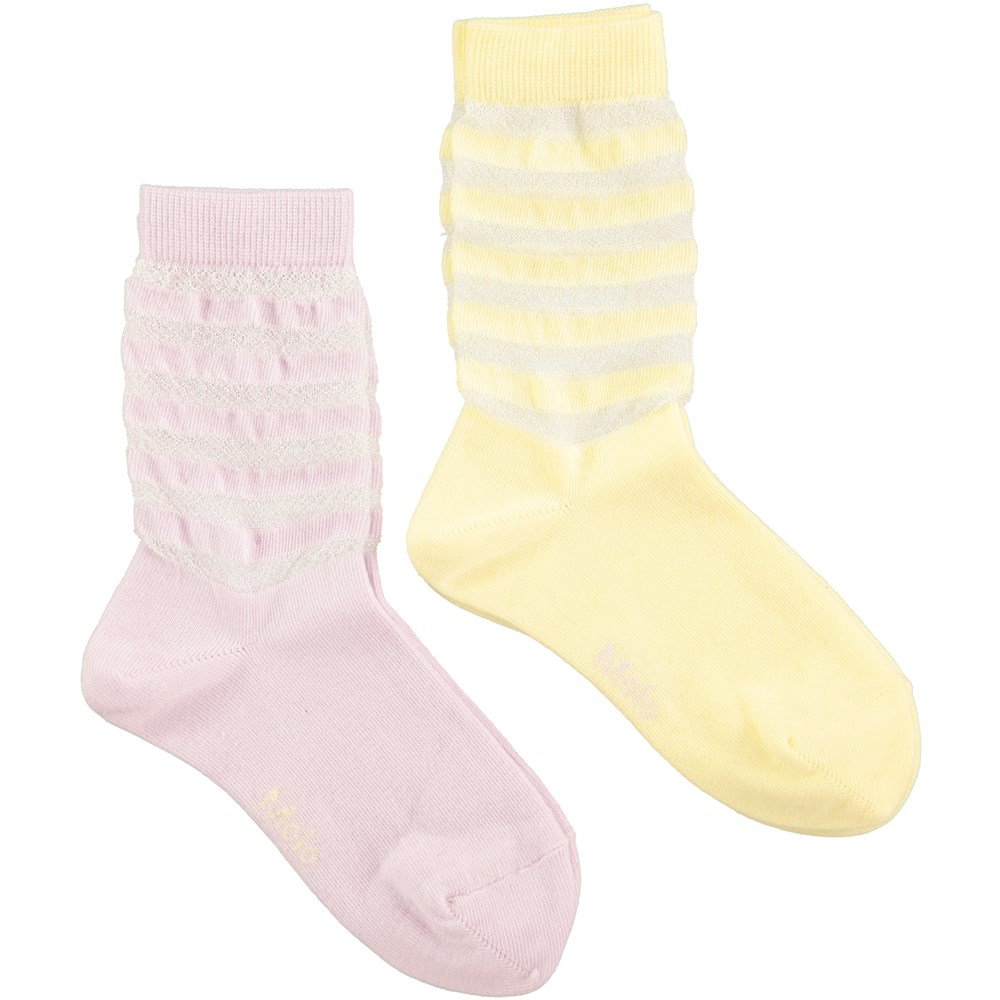 Narice - Bleached Neon - socks with stripes