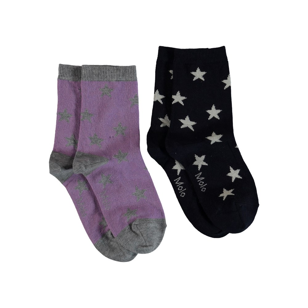 Nesi - Alpine Flower - Socks with stars.