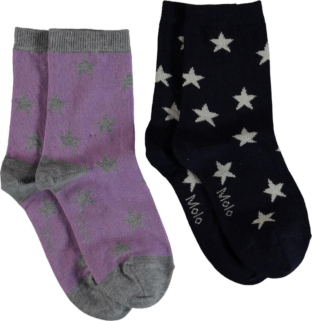 Nesi - Alpine Flower - Socks with stars.