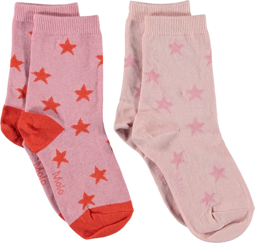 Nesi - Purple Haze - Socks with stars.