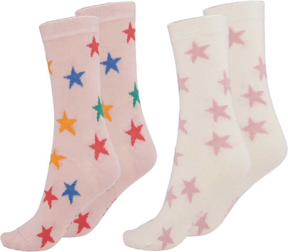 Nesi - Rainbow Stars - Two pairs of socks with stars