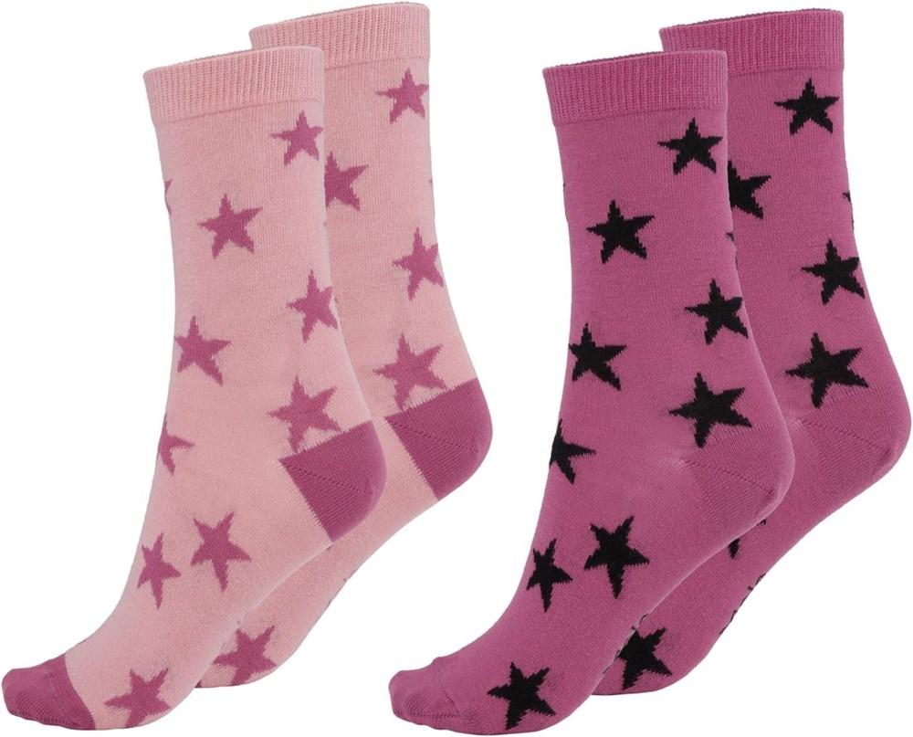 Nesi - Rosequartz - Two pairs of socks with stars