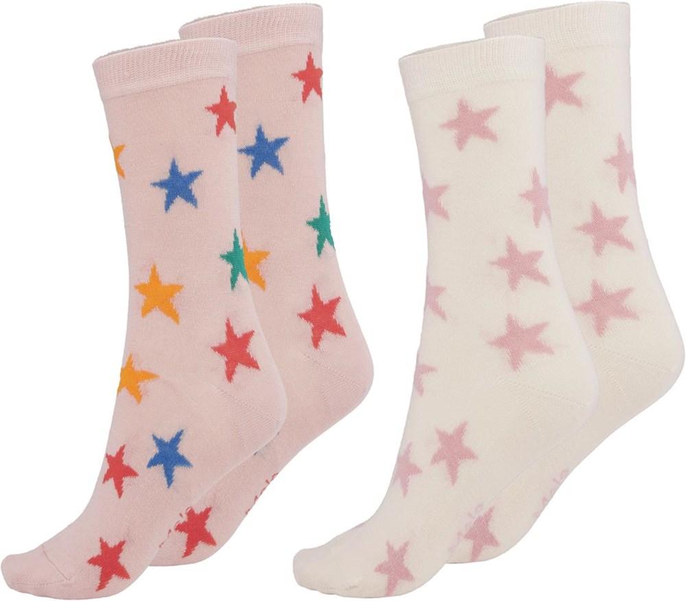 Nesi - Rainbow Stars - Two pairs of socks with stars