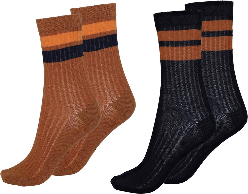 Nickey - Iron - Two pairs of socks with stripes