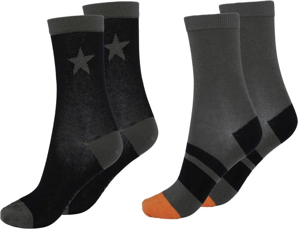 Nitis - Beluga - Two pairs of socks with stars