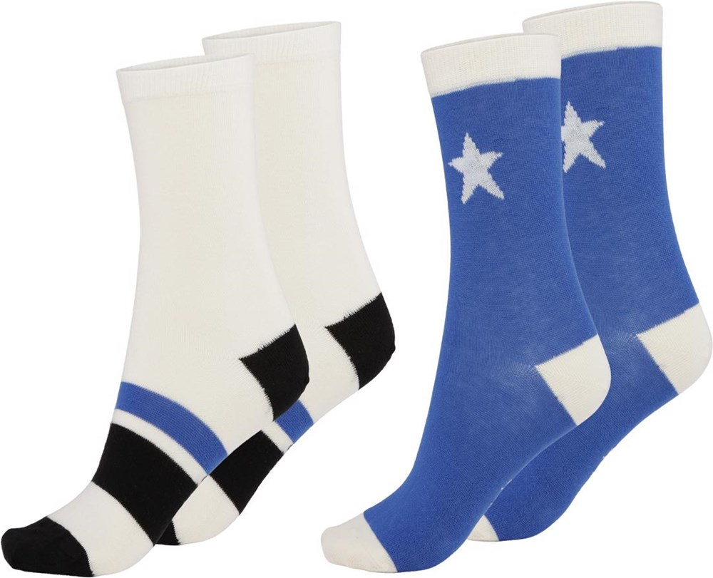 Nitis - Cobalt - Two pairs of socks with stars and stripes