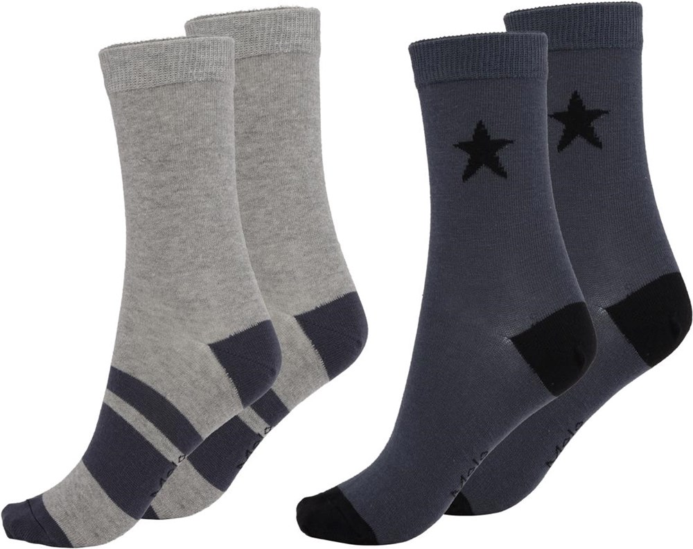 Nitis - Summer Night - Two pairs of socks with stars and stripes