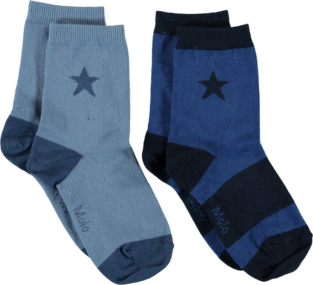Nitis - Twilight Blue - Socks with stars.