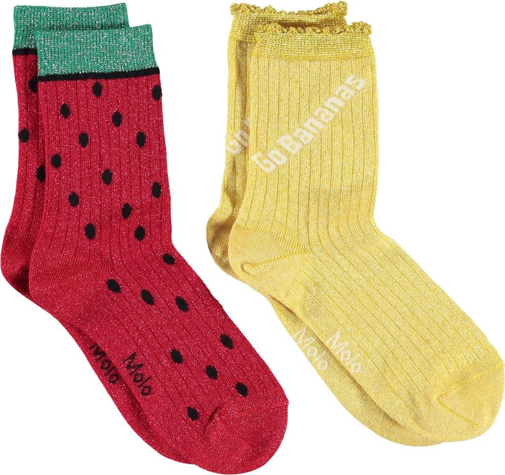 Nomi - Acacia - Watermelon and yellow socks
