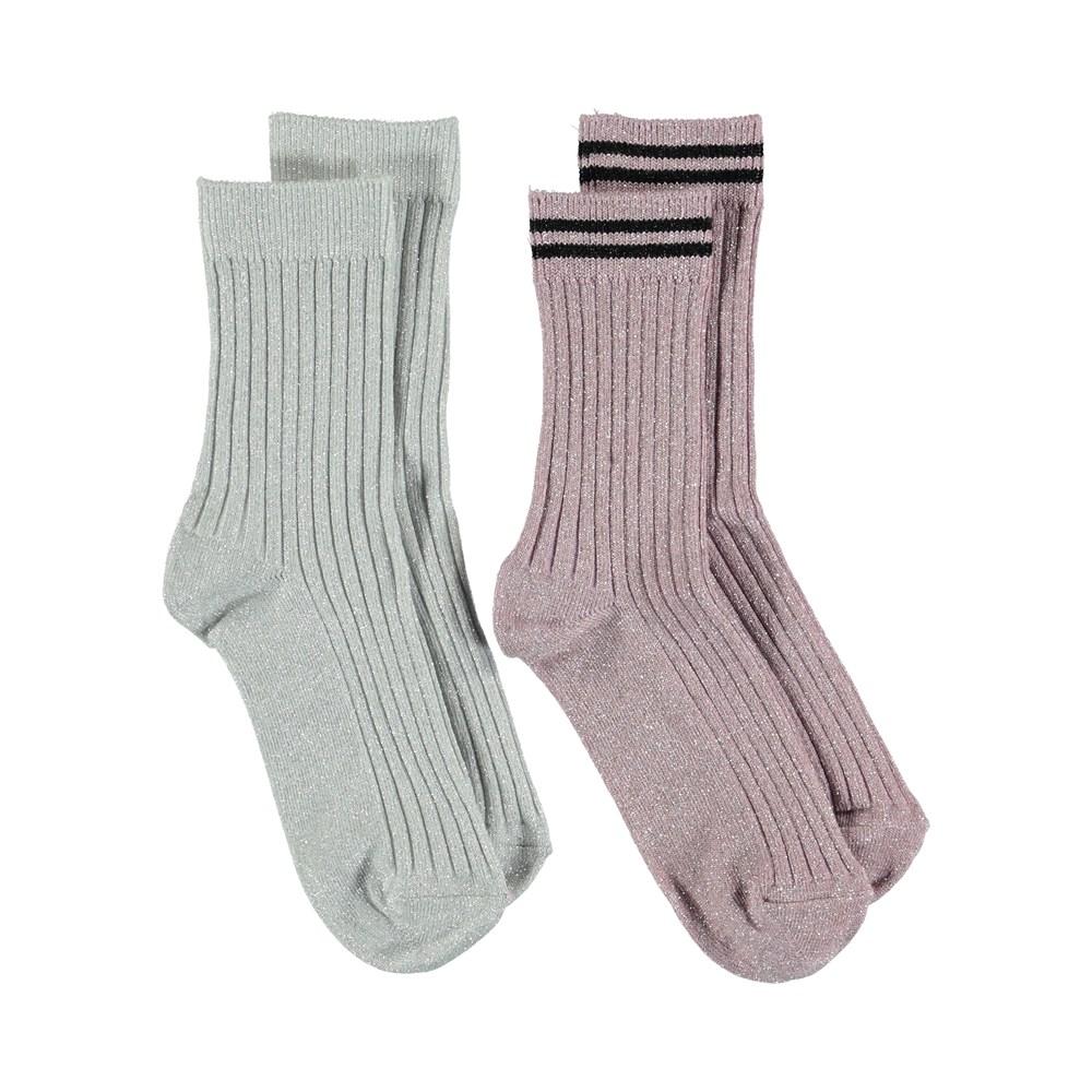Nomi - Chalk - Glitter socks.