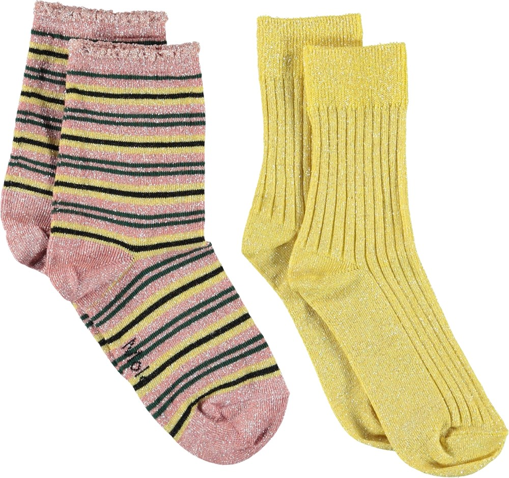 Nomi - Gold - Glitter socks.
