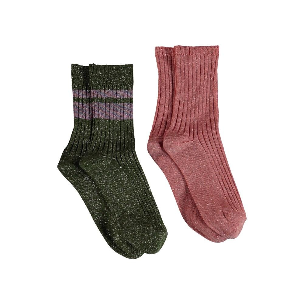 Nomi - Rare Orchid - Glitter socks.