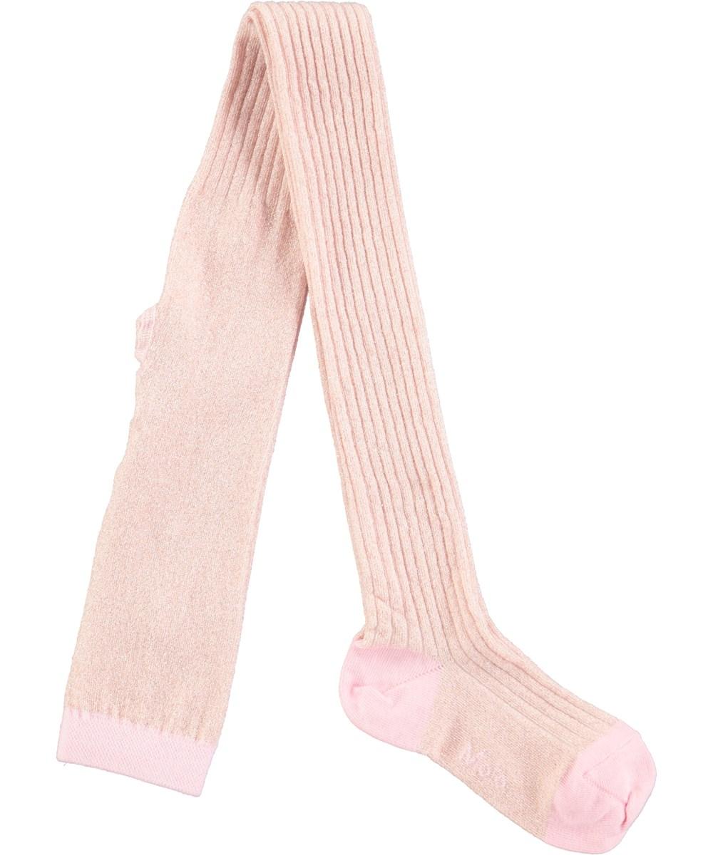 Rib tights - Rosewater - pink rib tights