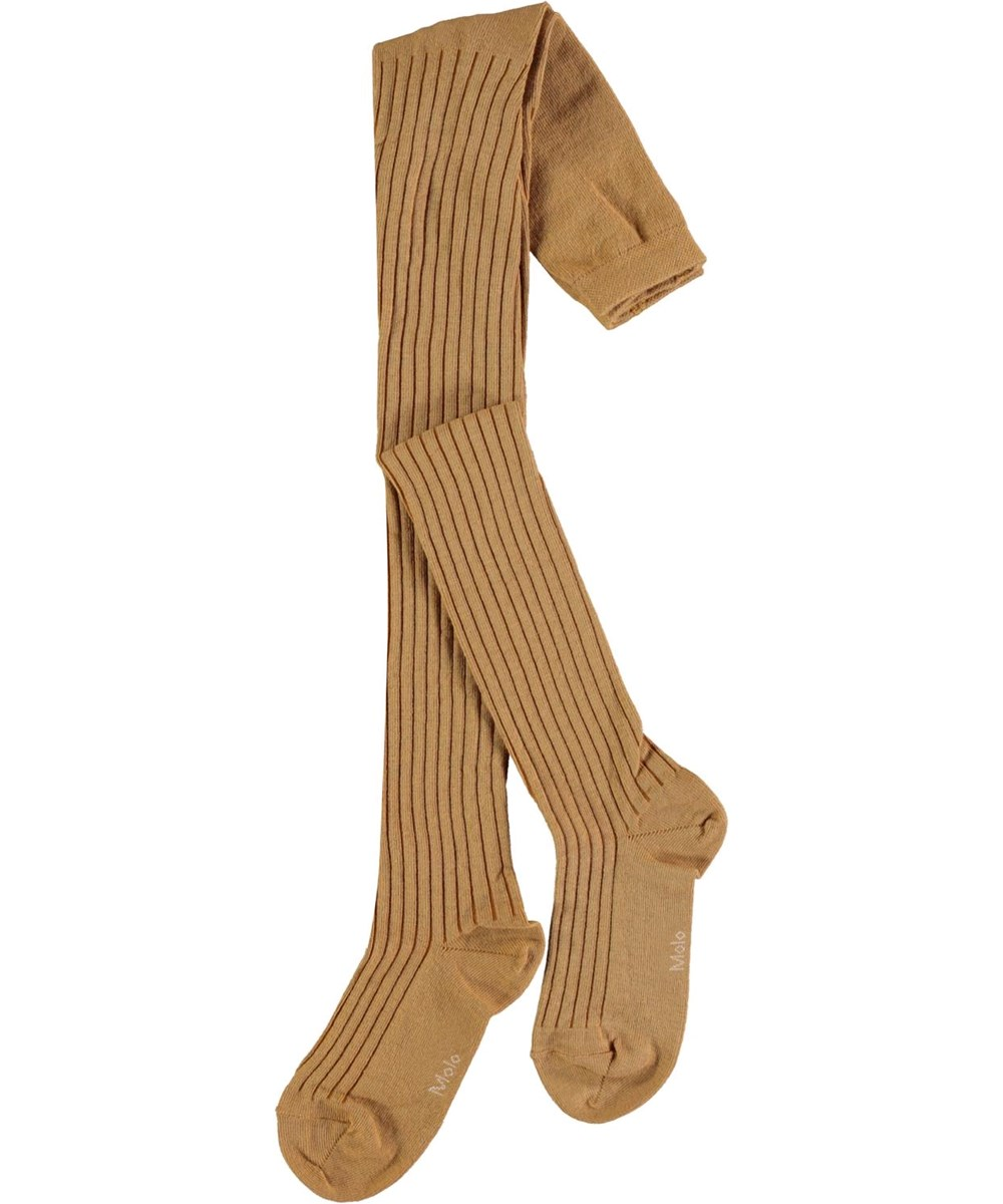 Rib Tights - Honey - Honey coloured rib tights