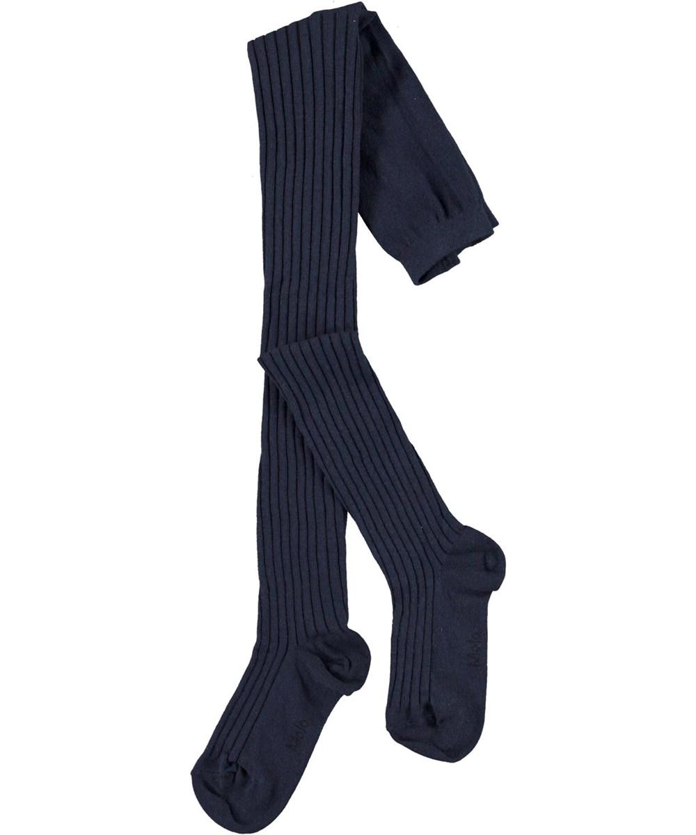 Rib Tights - Peacoatforest Dinos - Blue tights in rib