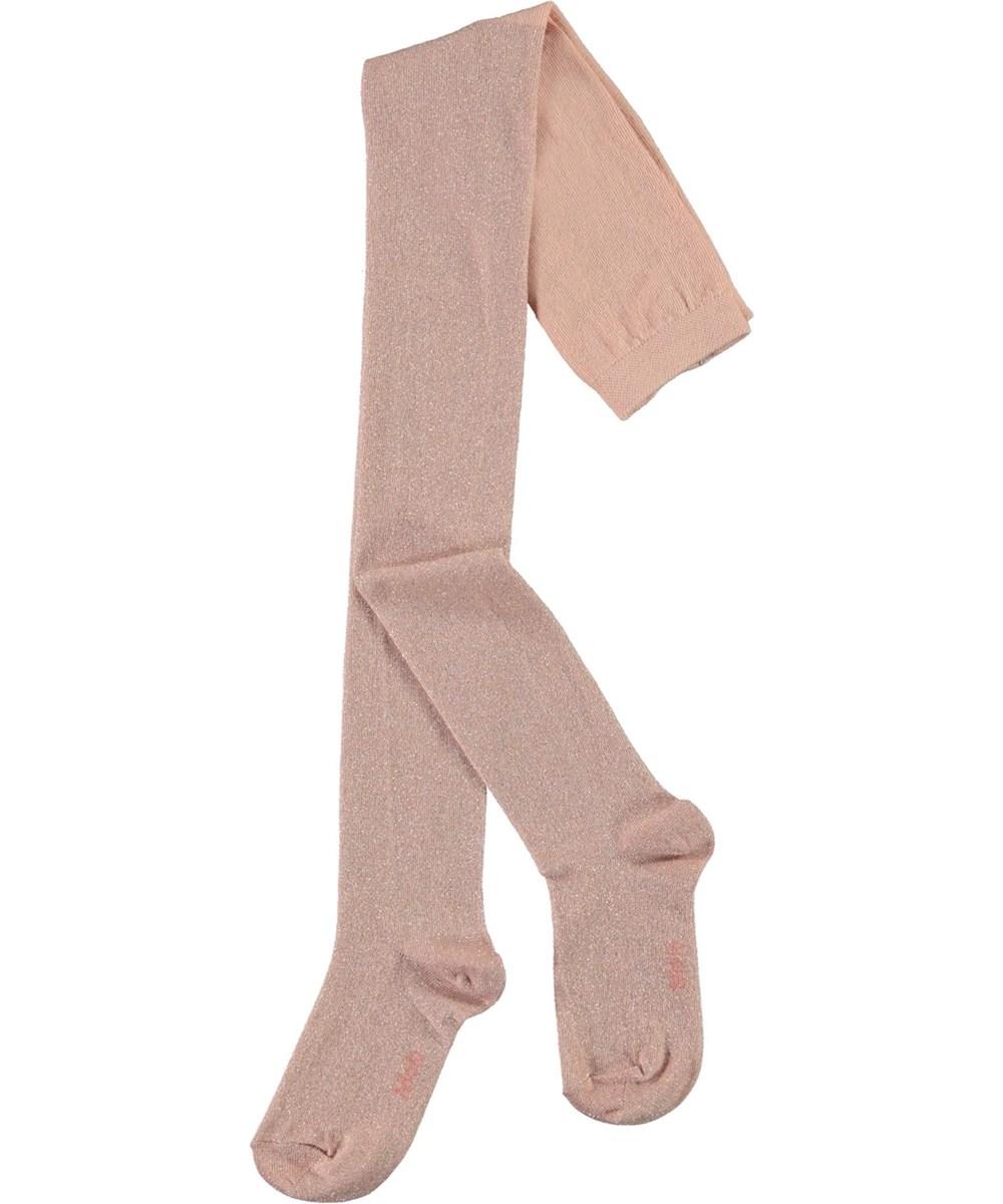 Glitter Tights - Cameo Rose - Rosa strømpebukser med glimmer