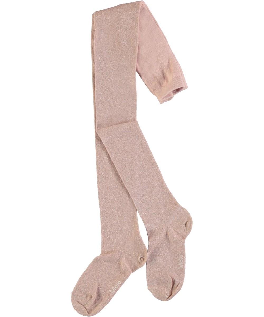 Glitter tights - Petal Blush - Rosa strømpebukser med glimmer