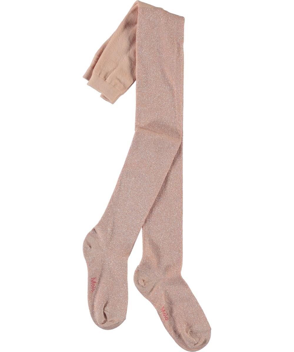 Glitter tights - Powder - Rosa glimmer strømpebukser