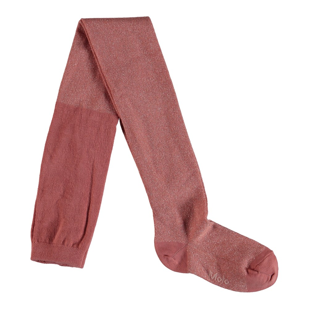 Glitter tights - Rare Orchid - Rosa strømpebukser med glimmer.