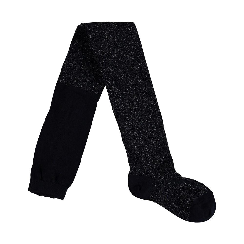 Glitter tights - Sky Captain - Sorte strømpebukser med glimmer.