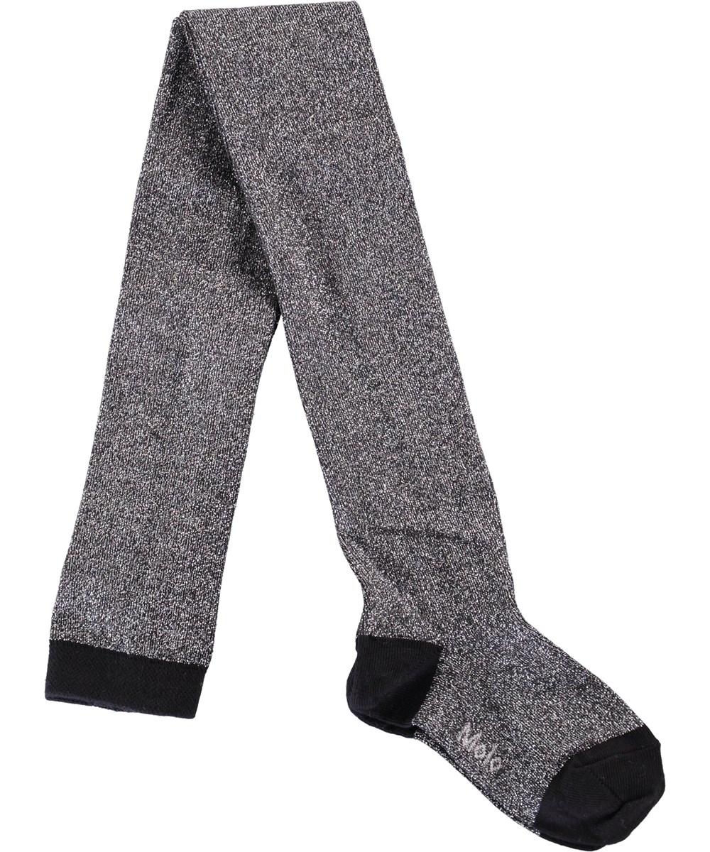 Glitter tights - Black - Sorte strømpebukser med glimmer