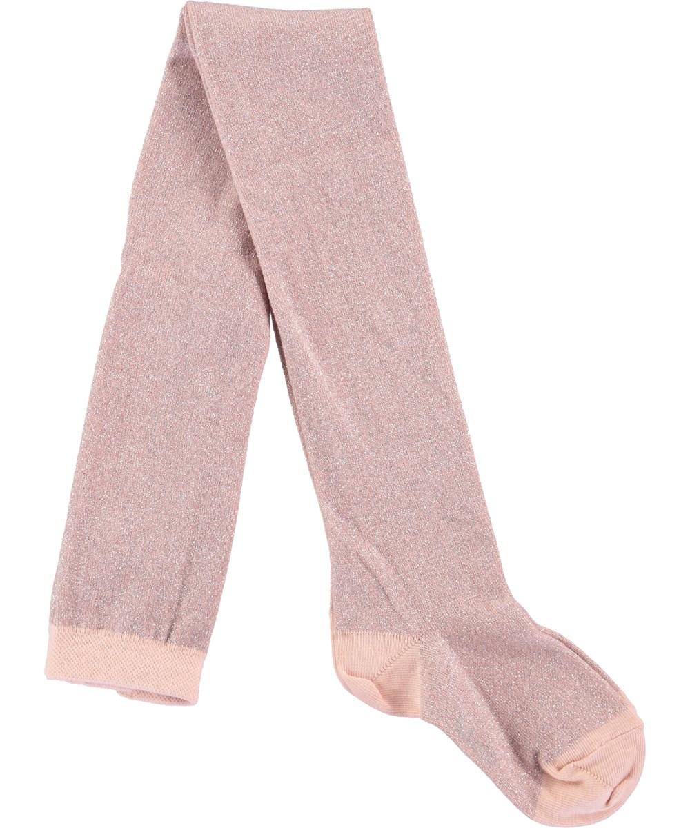 Glitter tights - Cameo Rose - Lyserøde strømpebukser med glimmer