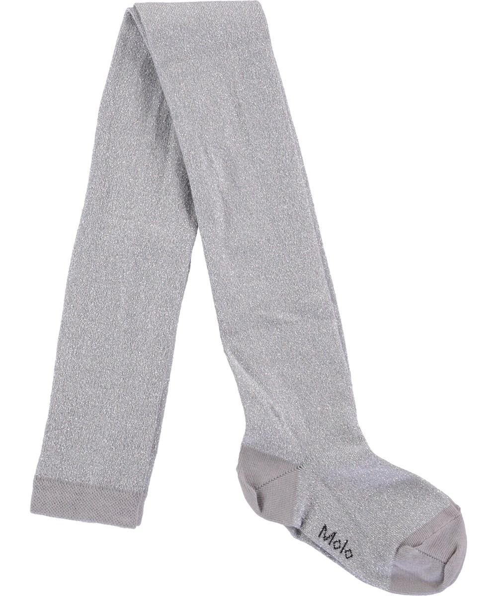 Glitter tights - Sleet - Grå strømpebukser med glimmer