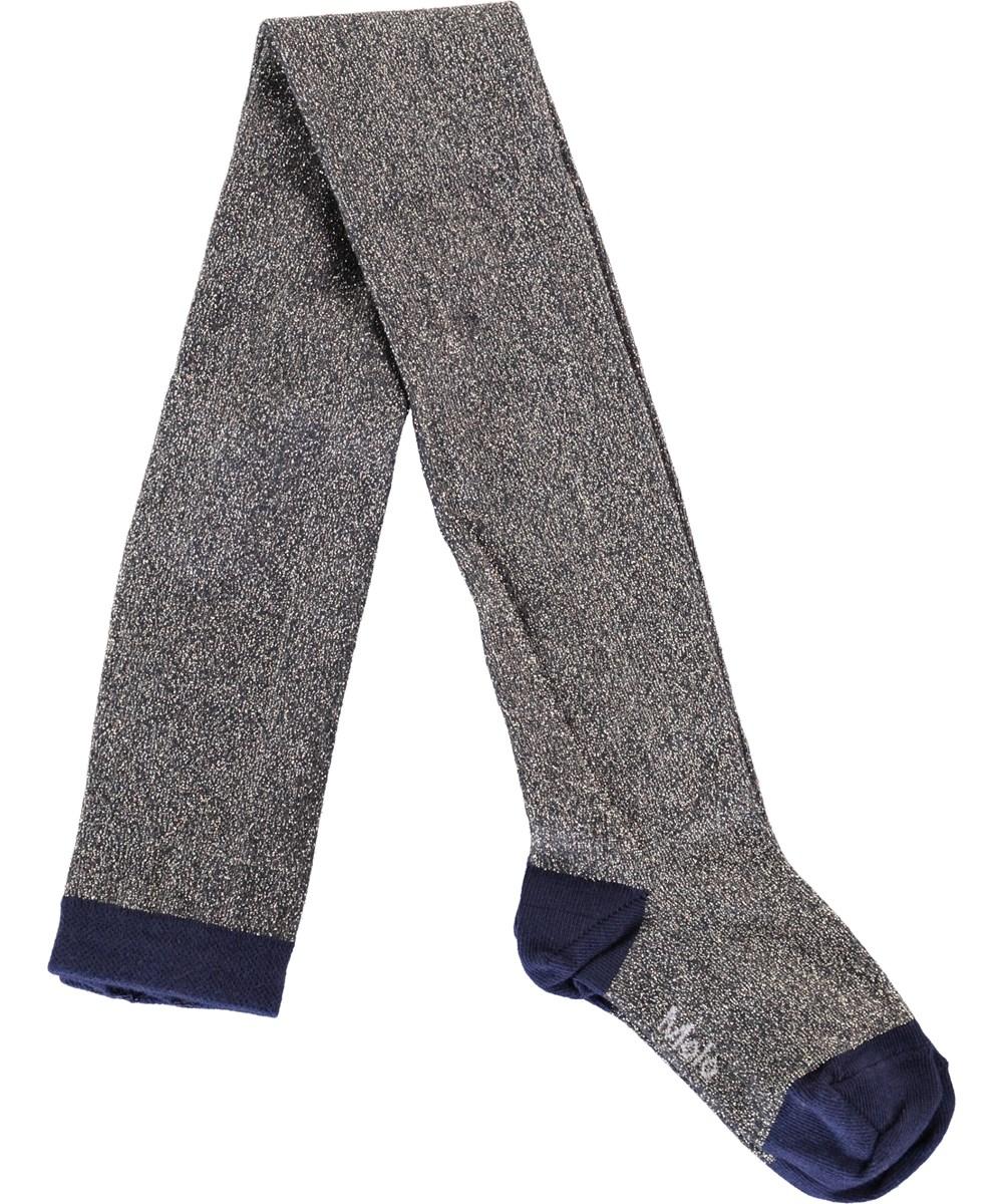 Glitter tights - Total Eclipse - Blå strømpebukser med glimmer
