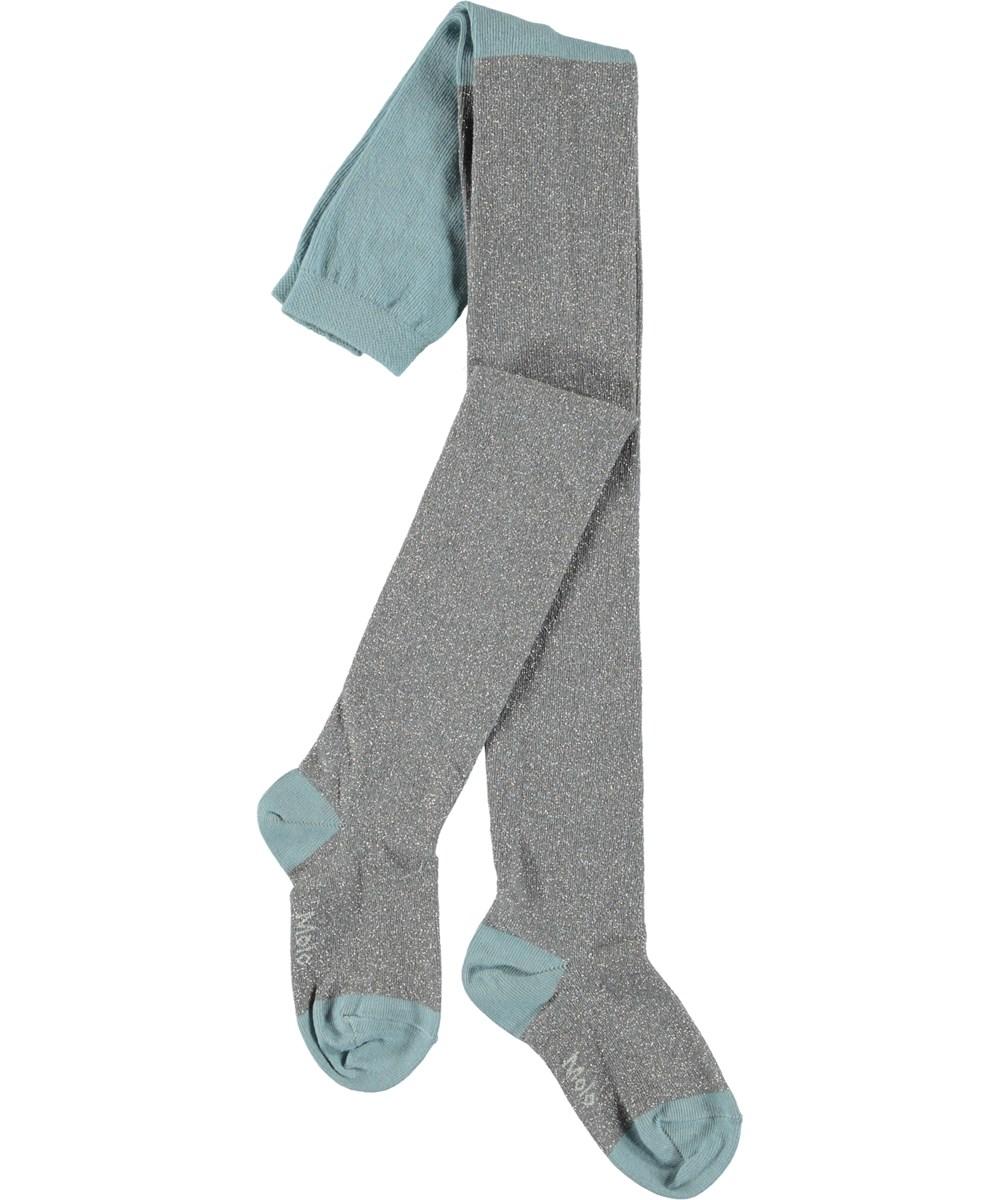 Glitter tights - Misty Blue - Blå glimmer strømpebukser
