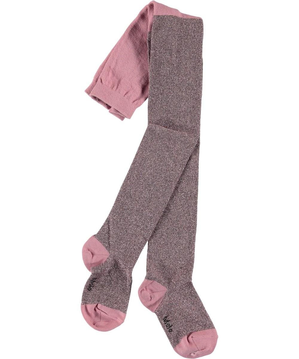 Glitter tights - Purple Haze - Lyserøde glimmer strømpebukser