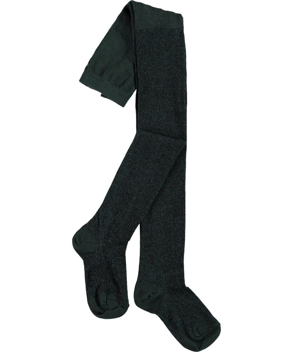 Glitter tights - Velvet Green - Grønne glimmer strømpebukser