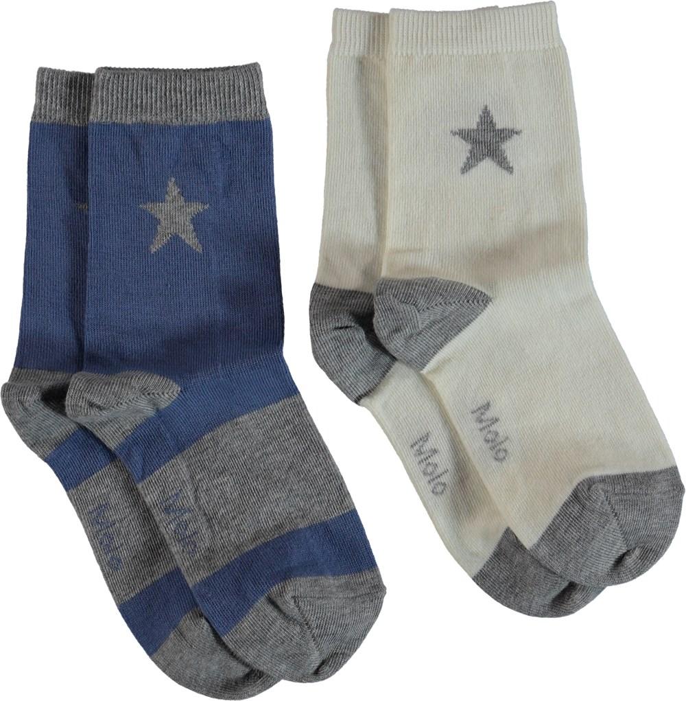 Nitis - Dirty White - Strømper med stjerner.