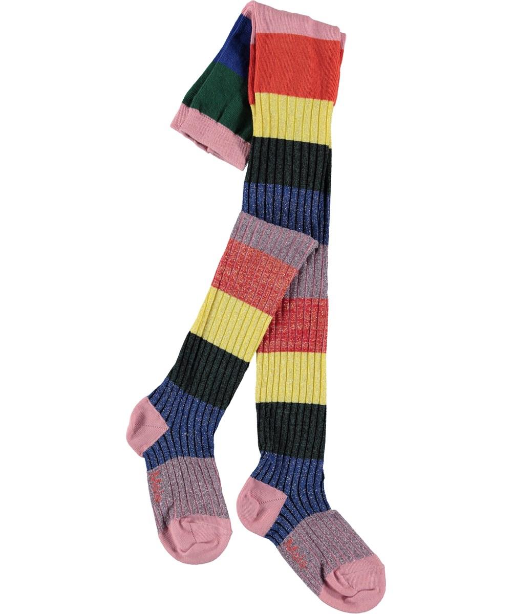 Rainbow Tights - Midwinter Rainbow - Regbuestribede strømpebukser.