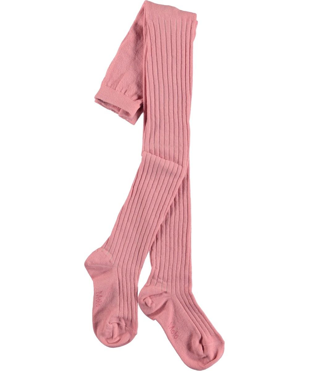 Rib Tights - Rosewater - Lyserøde strømpebukser i rib.