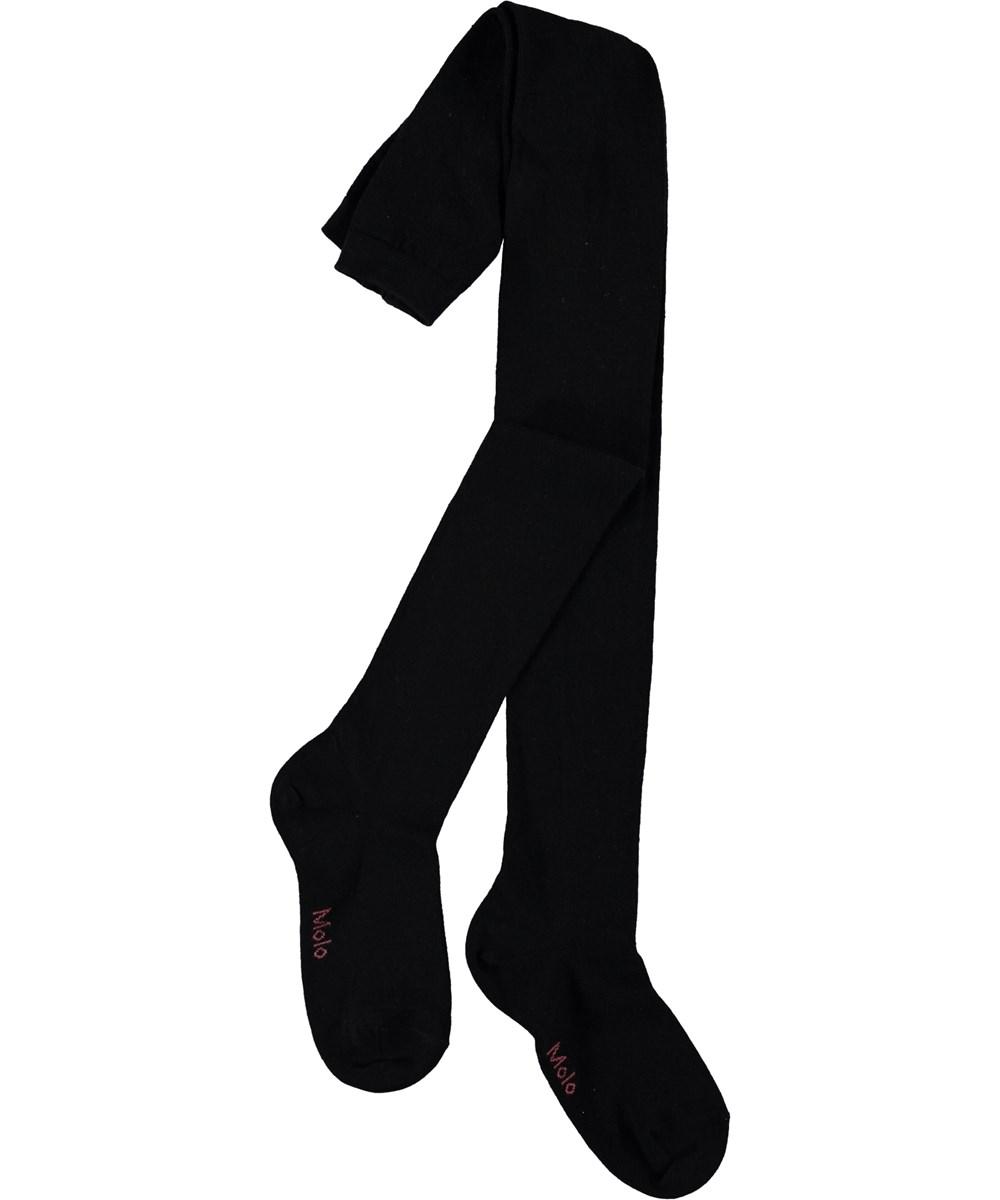 Solid Tights - Black - Sorte strømpebukser
